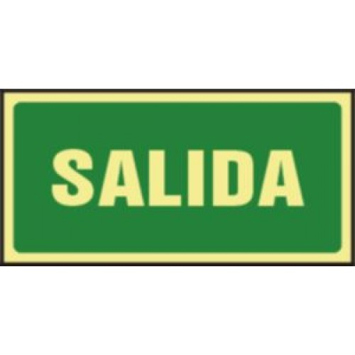 CARTEL SALIDA