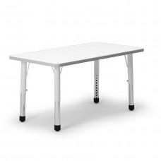 Mesa rectangular regulable en altura